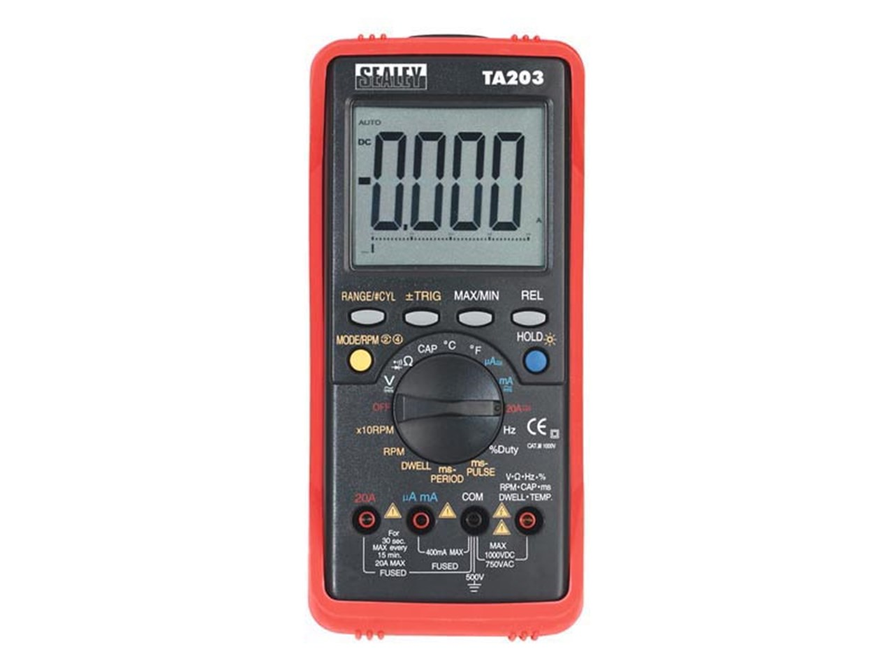Sealey Ta203 Automotive Digital Multimeter 15 Function Bar Graph Pc Link Electronic Multimeters