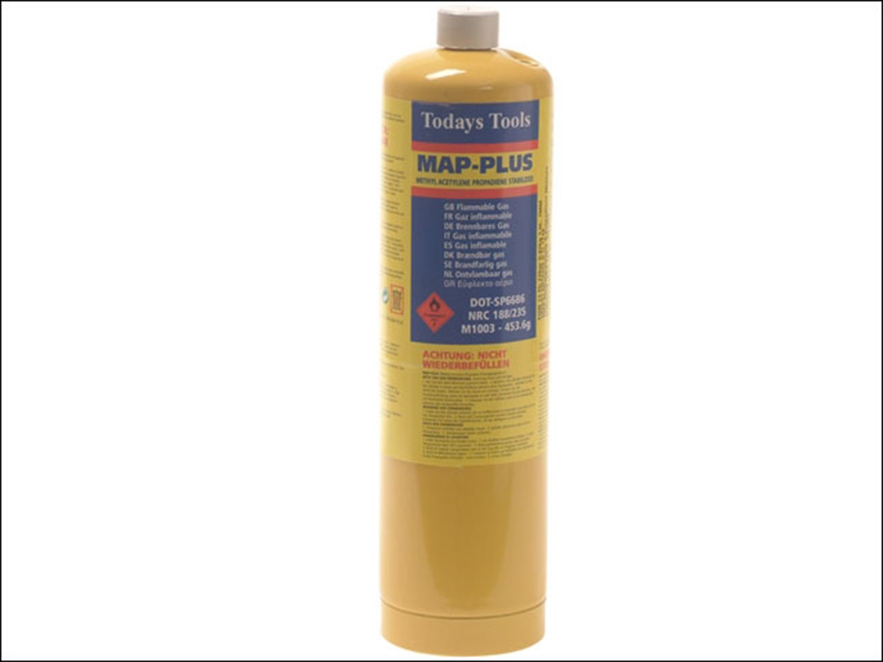 todays tools todmapp yellow map plus gas cylinder 453g