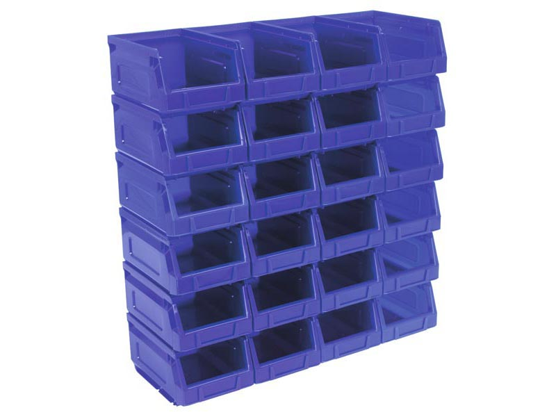 Sealey TPS224B Plastic Storage Bin 105 X 165 X 83mm   Blue Pack Of 24