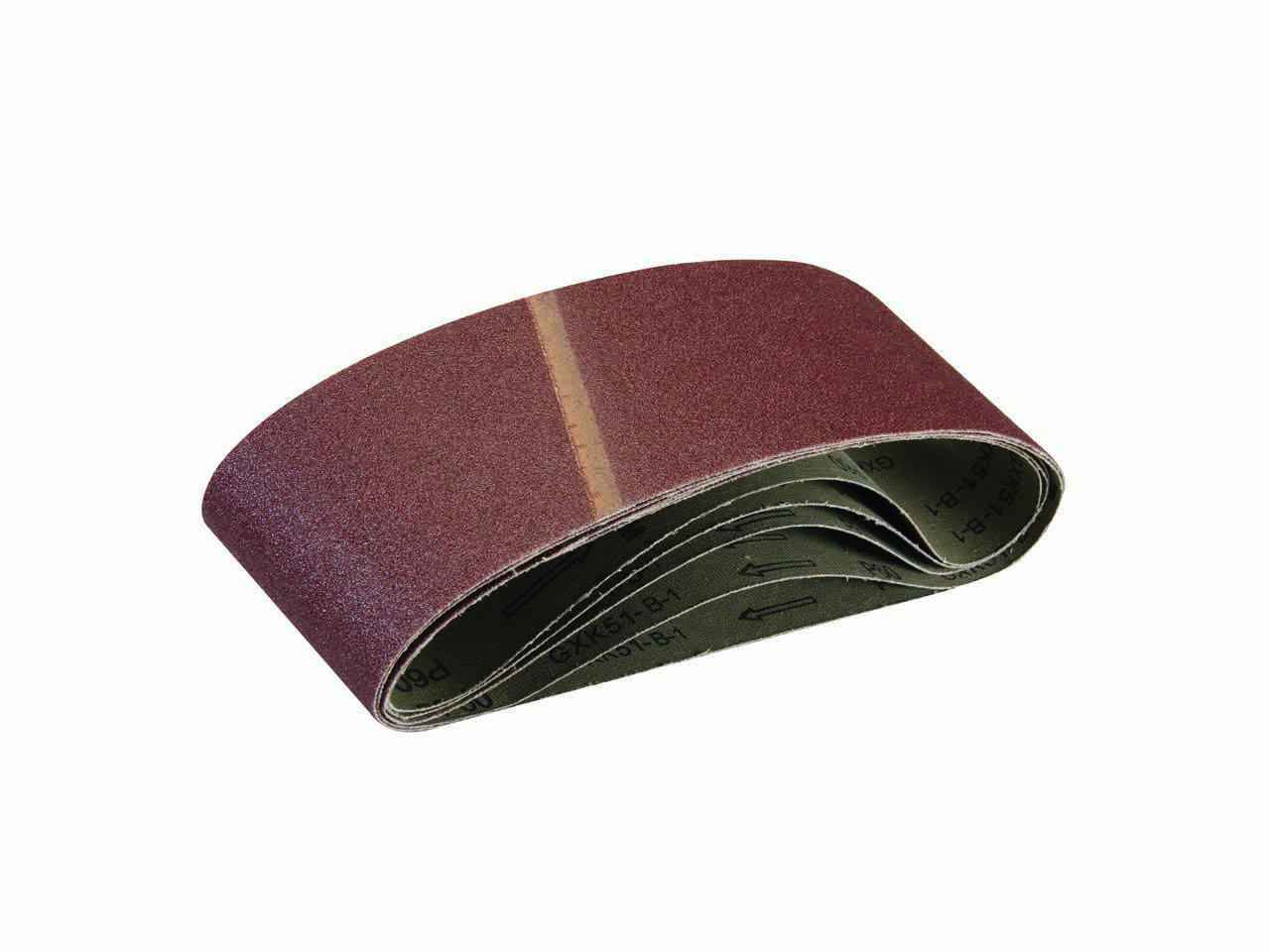 for Sanding Wood Overlap Joint with Extra top-Skive for Reduced Chatter Sanding Belts 100mm x 610mm 5pk 60 Grit Aluminium Oxide Abrasive Grain Resin Bonded to X-Weight Backing Cloth Paint.