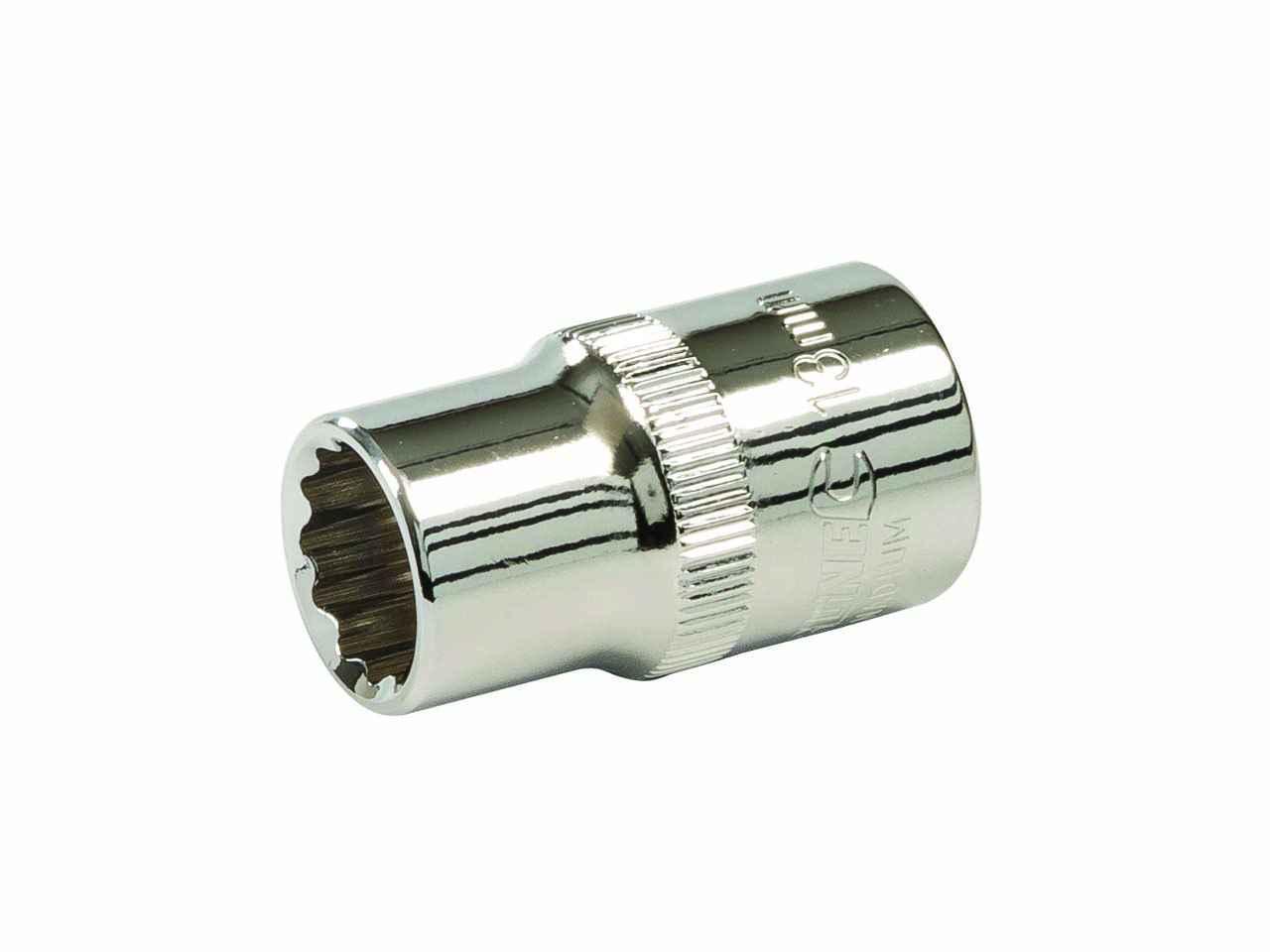 Bi-Hexagon Socket 12 Point 1//2in Drive 18mm Teng