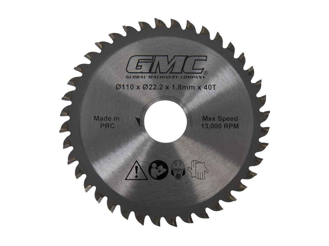 # GMC Tungsten Carbide Tipped Saw Blade GTS1500 110 x 22.2 x 40T 936962 586371