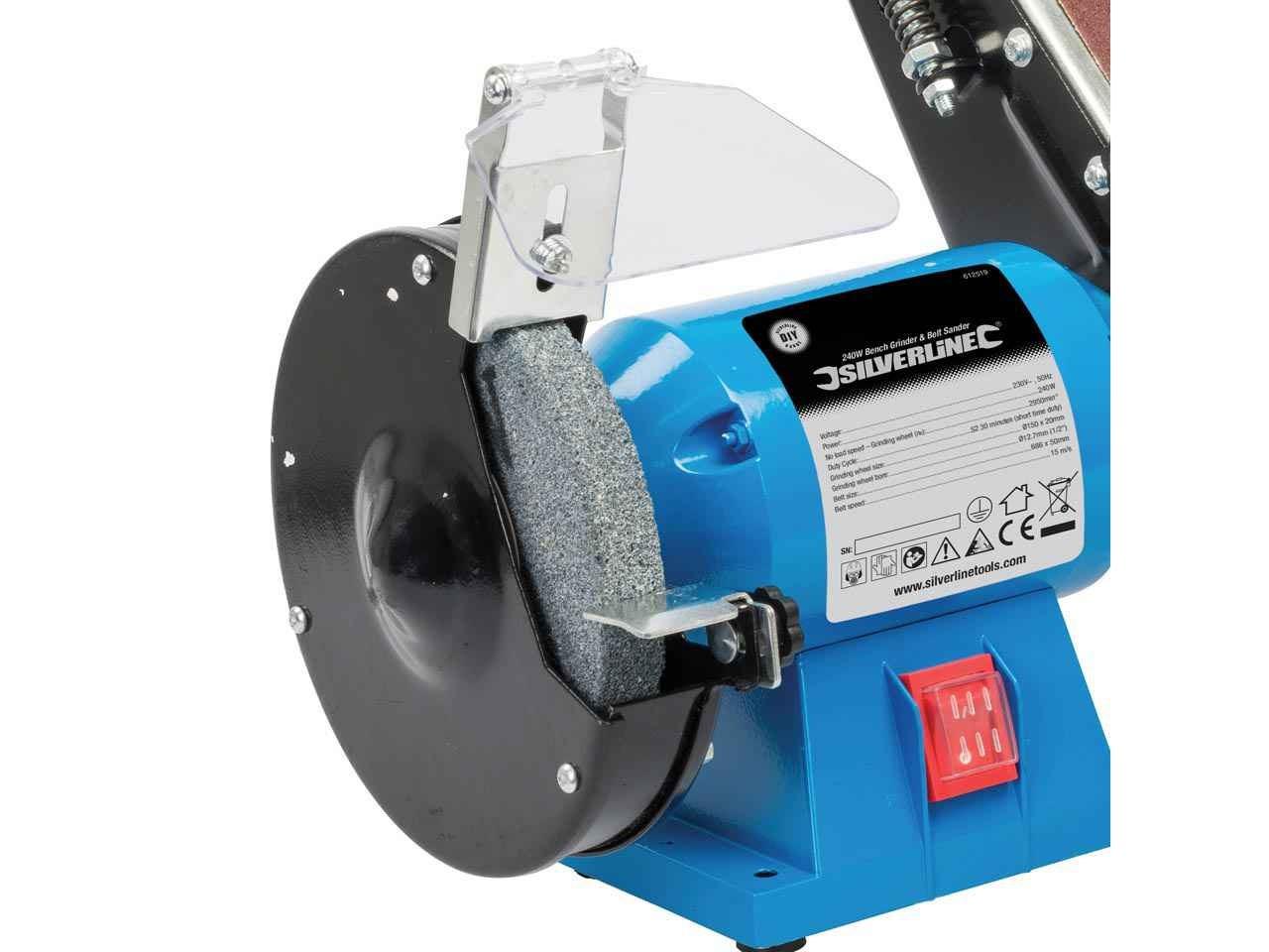 Silverline 612519 DIY 240W Bench Grinder And Belt Sander