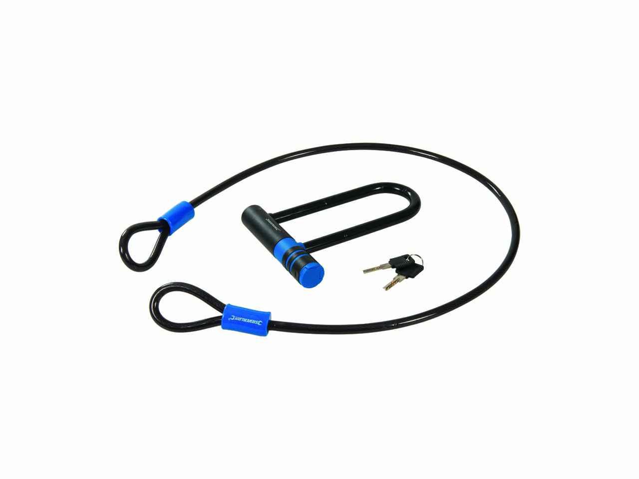Silverline U-Lock /& Cable Set 145 x 210 mm//10 x 1200 mm 712996