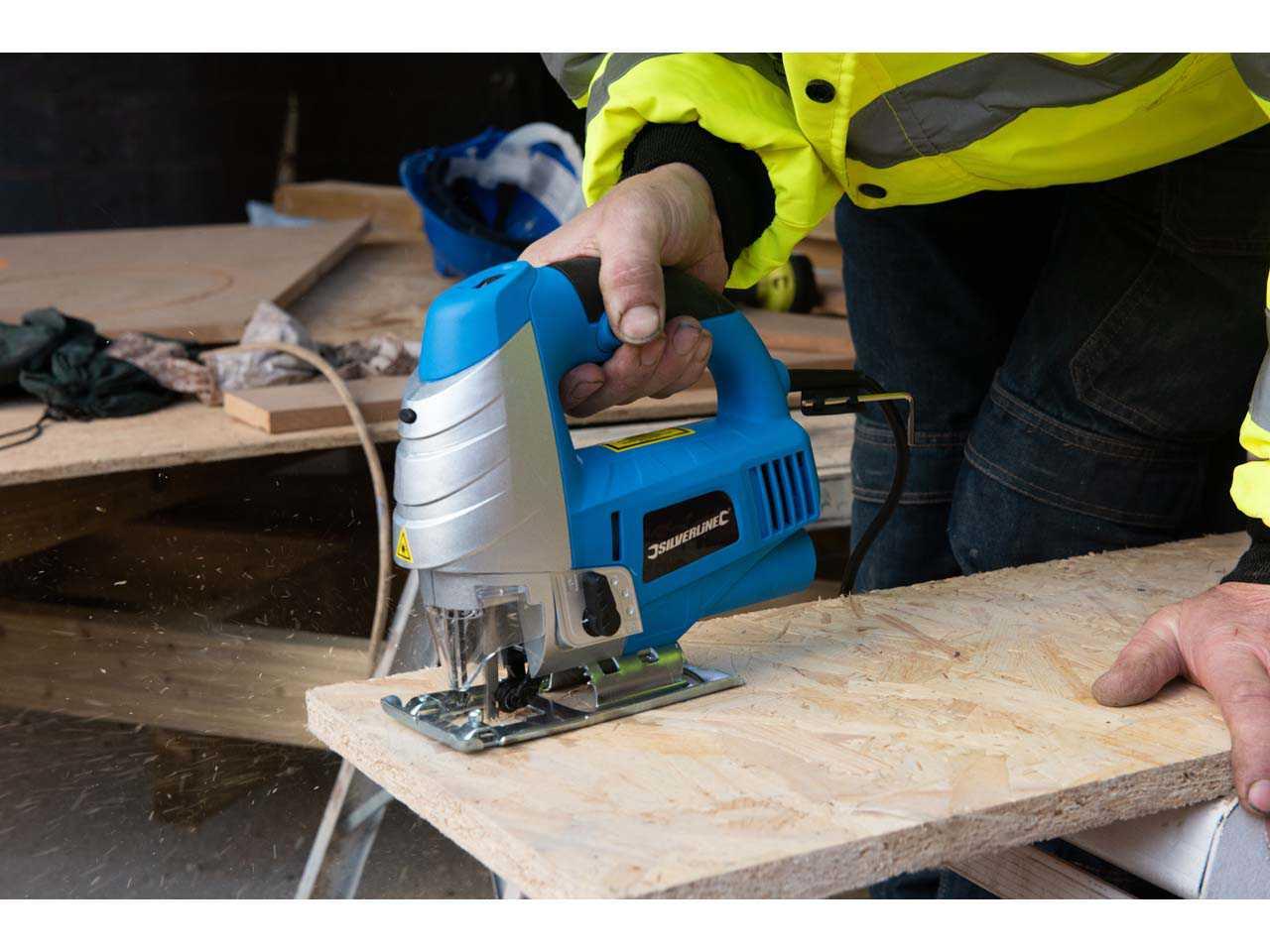 Silverline Laser Guided Jigsaw Electric Power 710w Jig Saw 815969