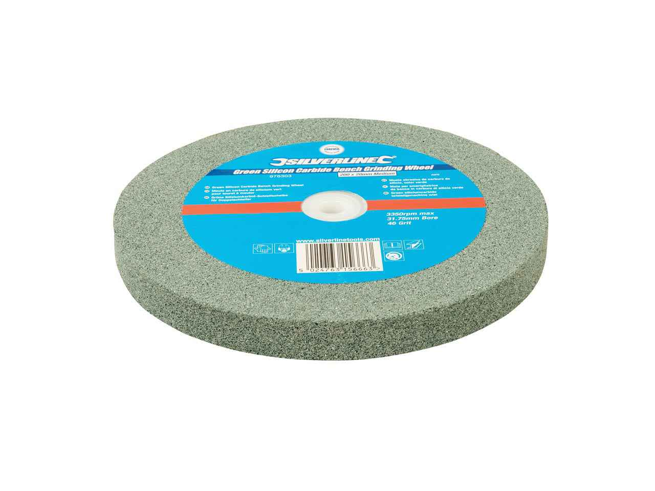 Silverline 976303 Green Silicon Carbide Bench Grinding