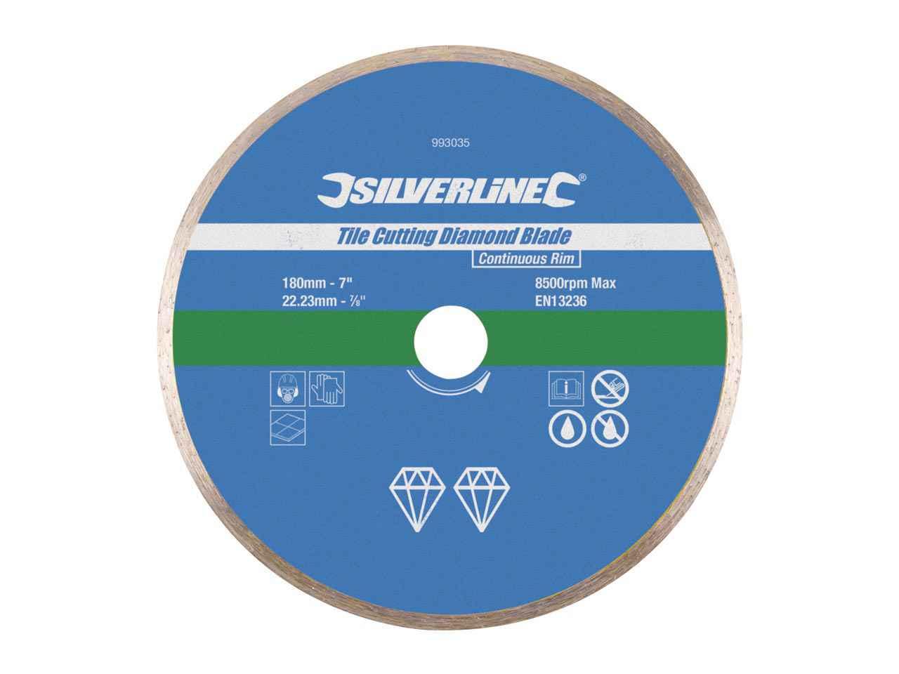 Silverline 675061 300 mm 5pk TCT Tuile Lames de scie