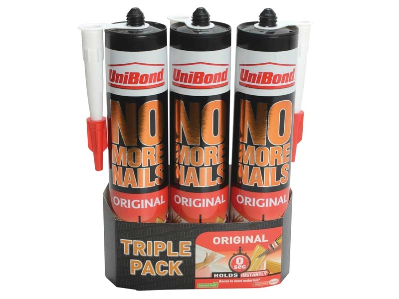 Unibond 1969154 No More Nails Interior Cartridge Triple Pack