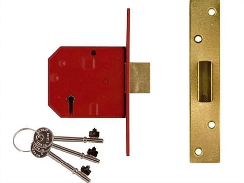 Union 2134e 5 Hebel BS Einsteck-Riegelschloss satin-verchromt 79.5mm ...