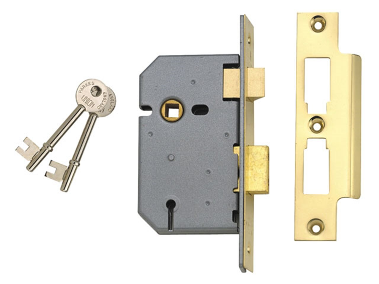 Union UNNY2277SC30 2277 3 Lever Mortice Sash Lock Satin Chrome 77 5mm 3in  Visi