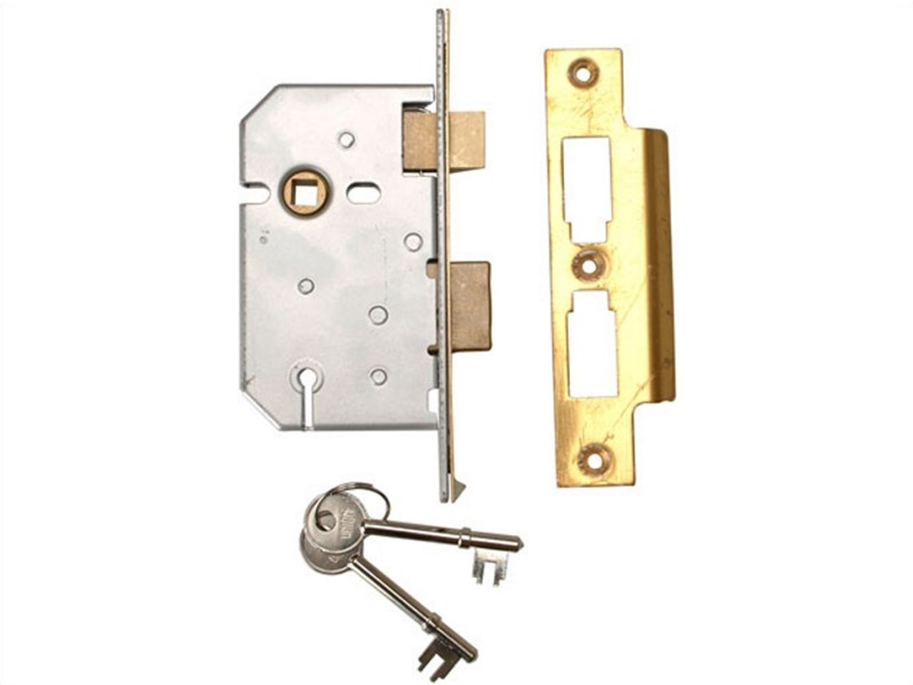 Union UNNY2277PL25 2277 3 Lever Mortice Sash Lock Polished Brass 65mm 2 5in  Visi
