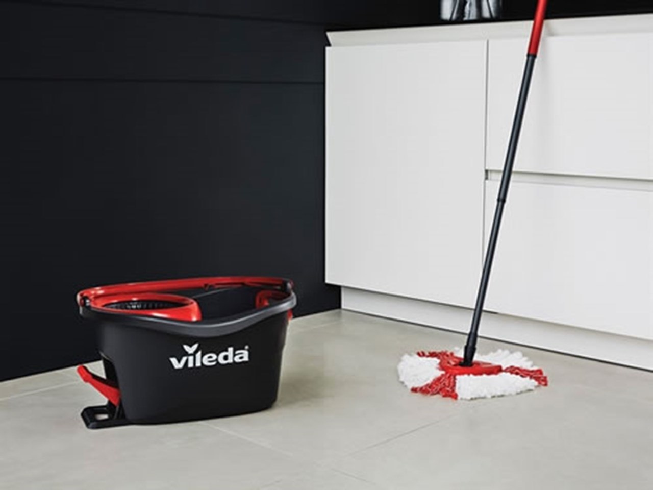 vileda vil155675 easy wring and clean turbo mop bucket. Black Bedroom Furniture Sets. Home Design Ideas