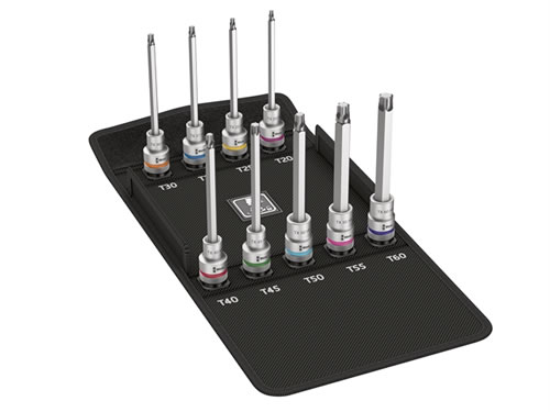 """Wera WER004212 8767 C Zyklop Torx HF 3 Socket Set 1//2/"""" Drive x 140mm Torx Bits 9"""
