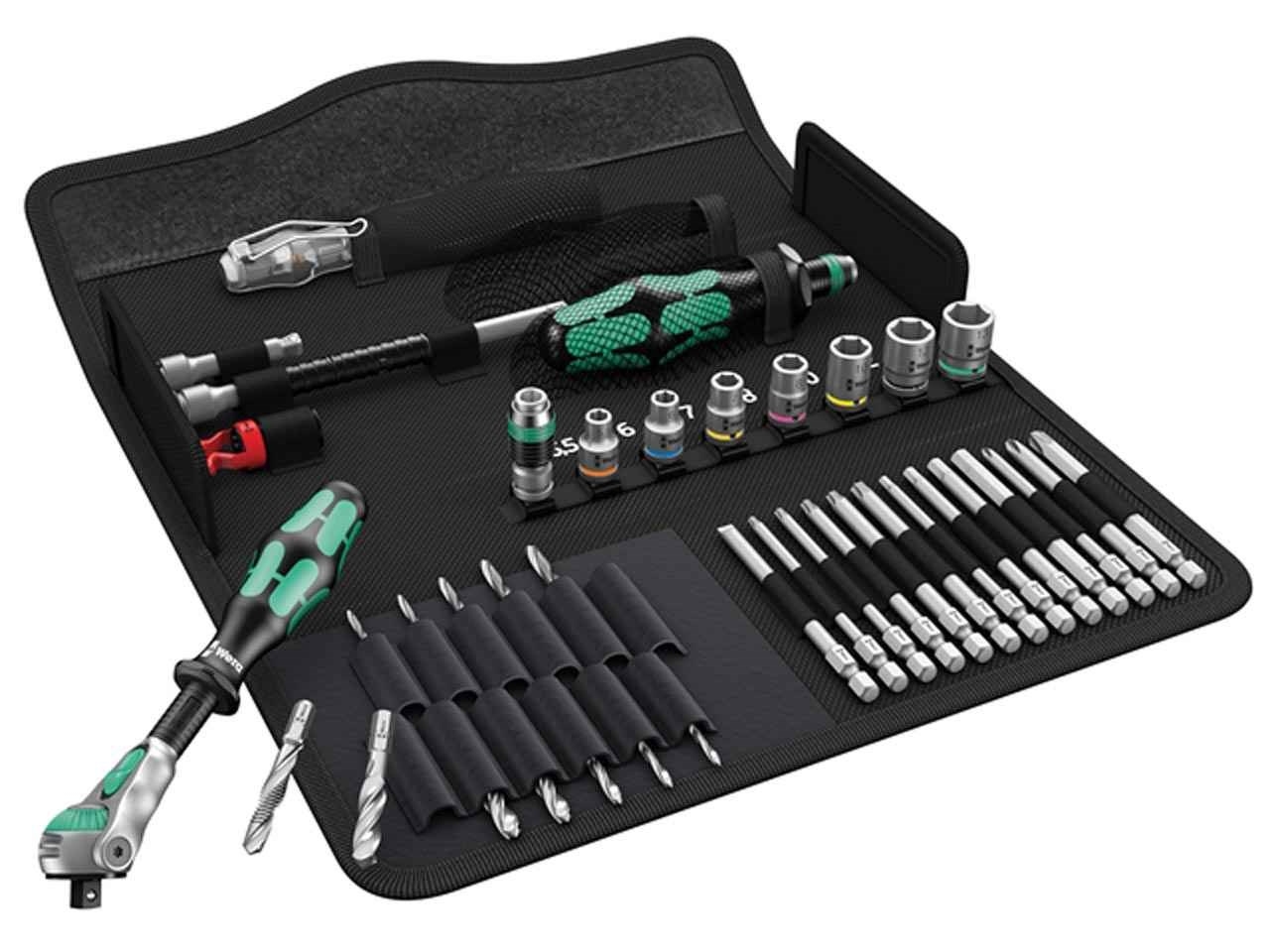 WERA 05135928001 Kraftform Kompact H1 Metal Tool Set 39 Piece