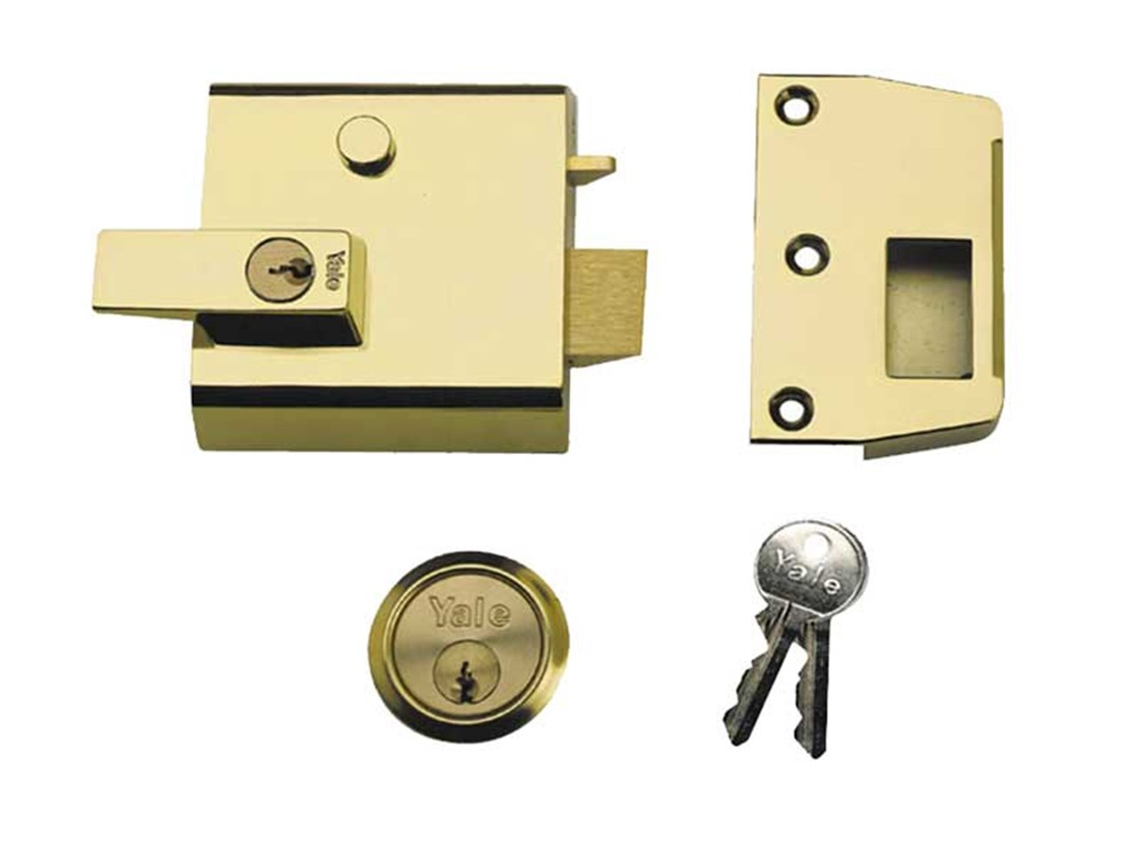 Yale Yalp1b P1 Double Security Nightlatch Brasslux Finish