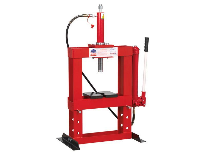 Sealey yk10blg hydraulic press 10tonne bench type without gauge ebay Hydraulic bench press