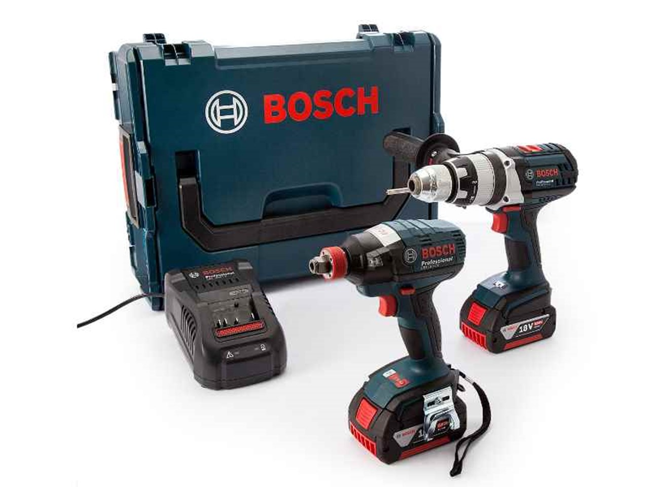 bosch rgsbgdx185 18v 2x5 0ah cordless combi drill impact wrench kit. Black Bedroom Furniture Sets. Home Design Ideas