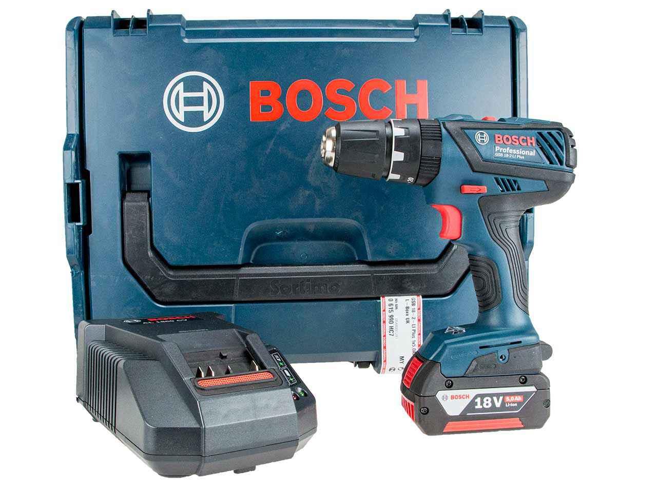 bosch gsb 18 2 li plus 18v combi drill with 1x 5 0ah and l. Black Bedroom Furniture Sets. Home Design Ideas