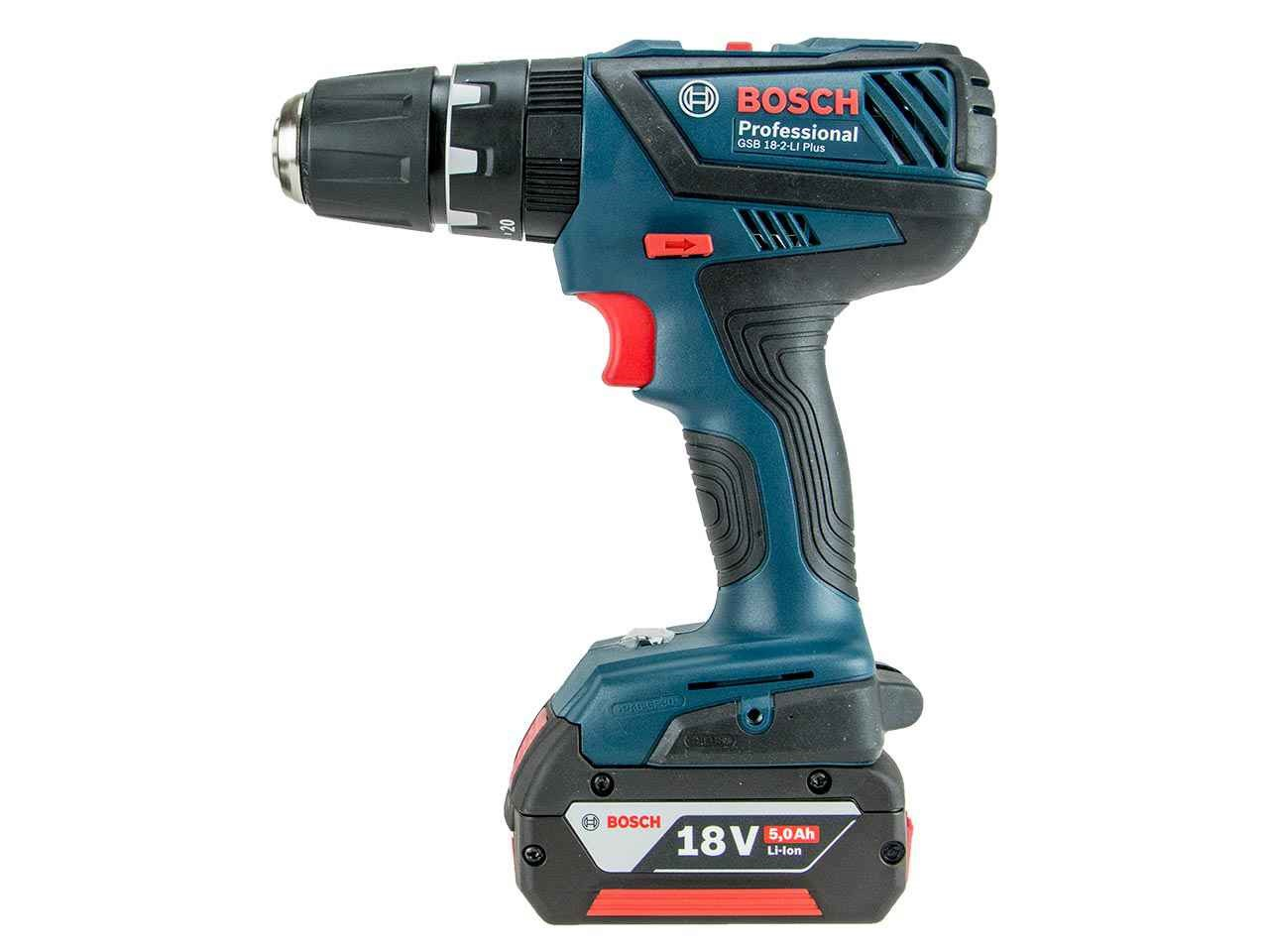 bosch gsb 18 2 li plus 18v combi drill with 1x 5 0ah and l boxx. Black Bedroom Furniture Sets. Home Design Ideas