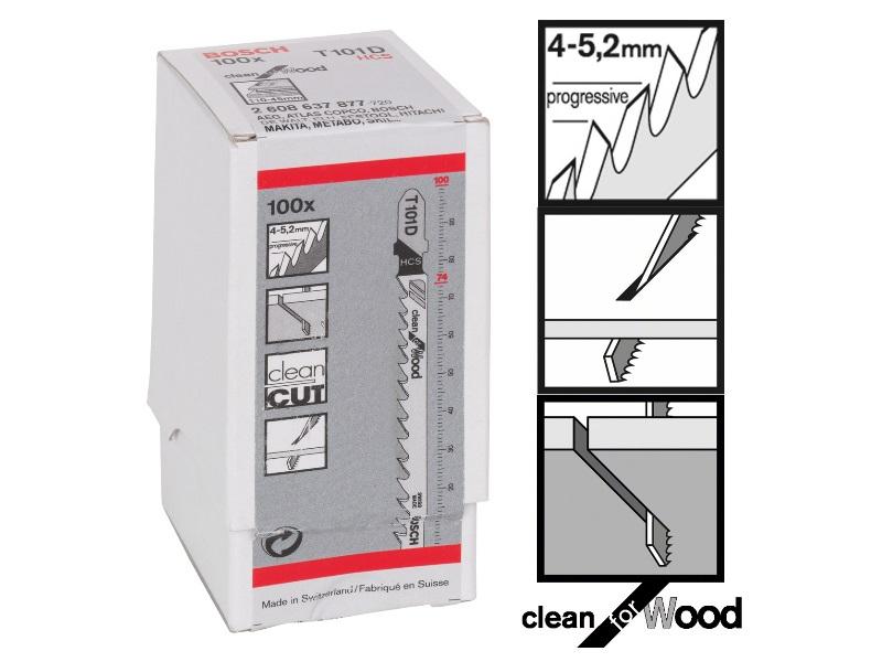 Bosch t101d clean for wood t shank jigsaw blades x 100 keyboard keysfo Choice Image