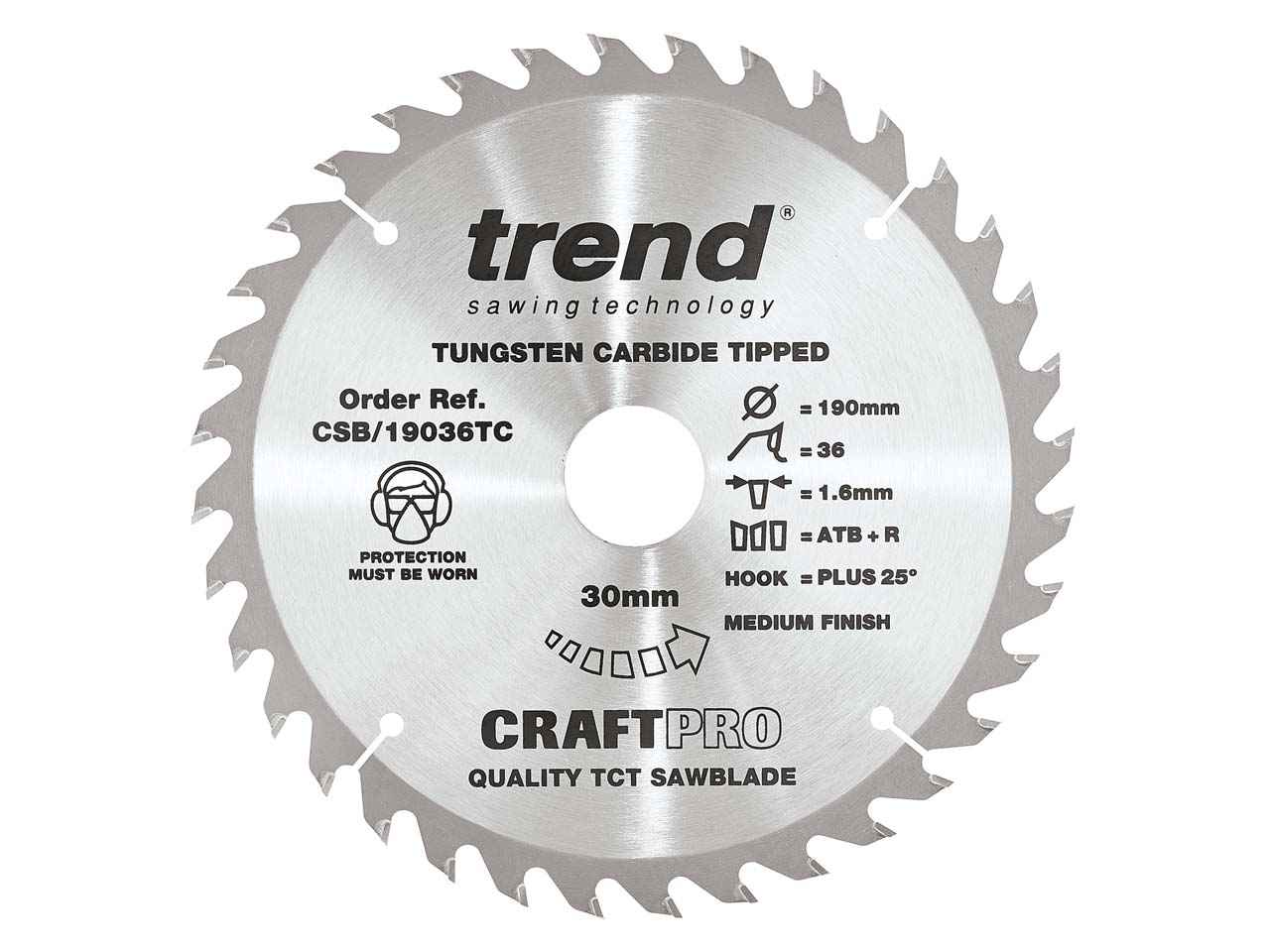 Circular Saw Blades 160mm x 20mm TCT 36 Tungsten Carbide Teeth