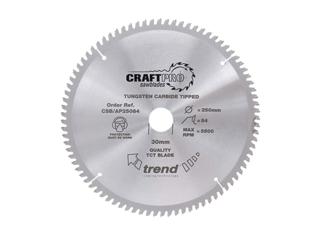 Trend CSB//AP30580 Circular Saw Blade 305mm x 30mm x 80T Alloy Plastic Mitre