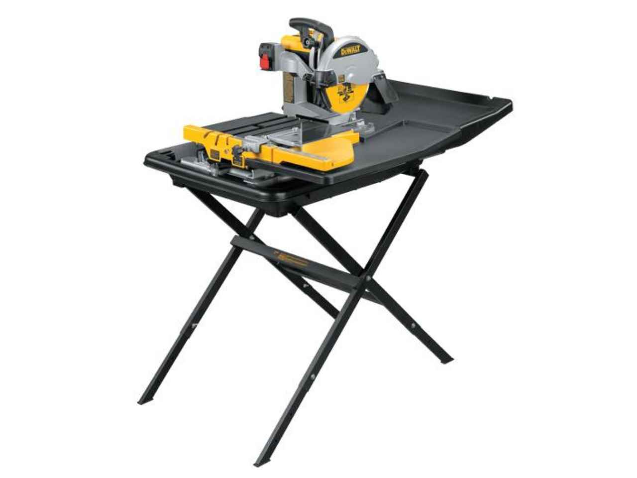 Dewalt d24000stand2 240v wet tile saw with slide table and d240001 stand Used table saw