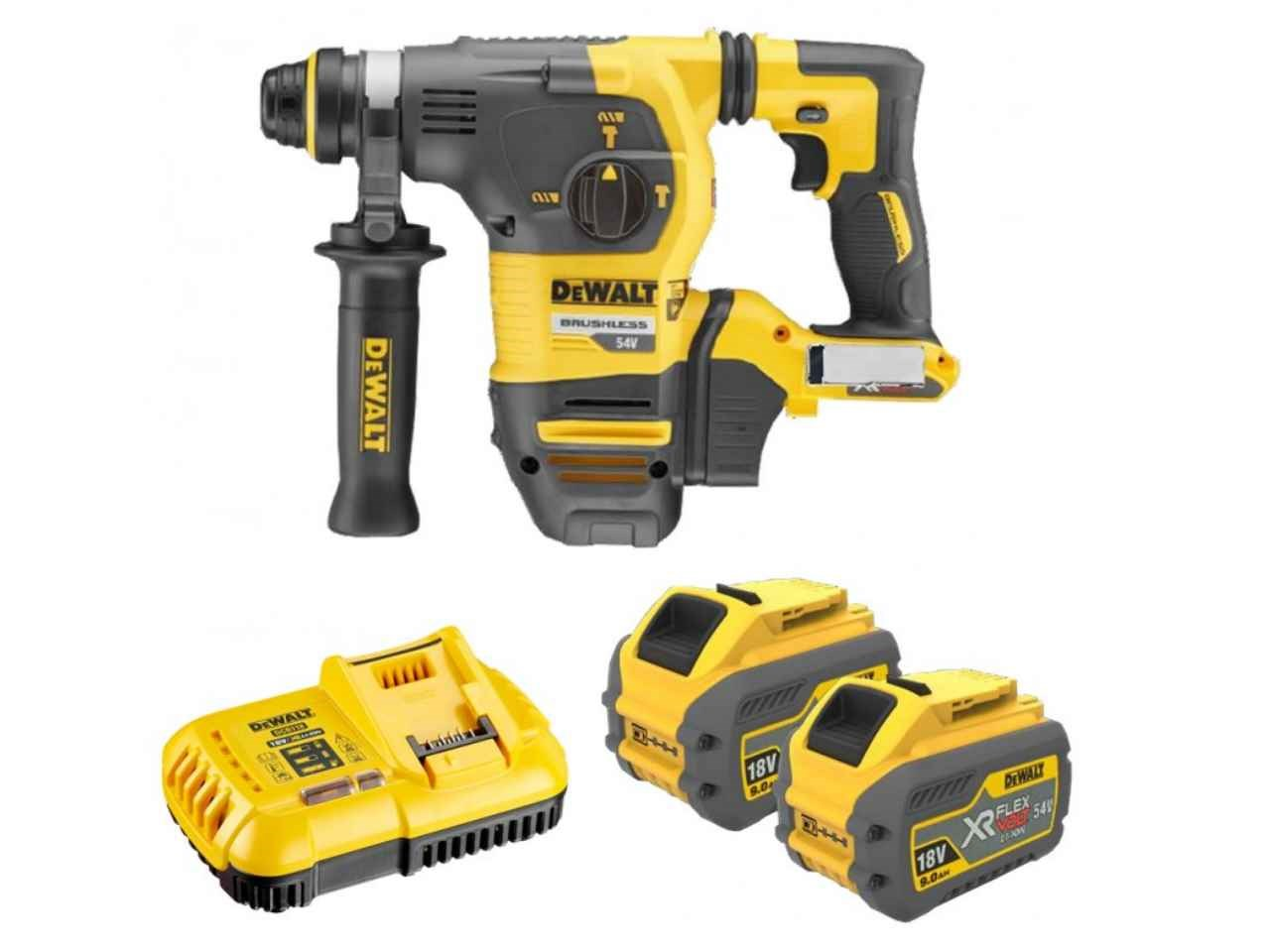 dewalt dch333x2 gb 54v xr flexvolt sds plus hammer. Black Bedroom Furniture Sets. Home Design Ideas
