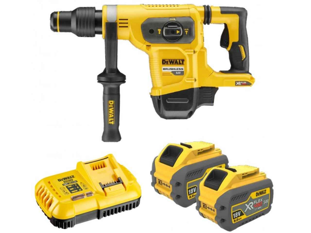 dewalt dch481x2 gb 54v xr flexvolt 2x9 0ah sds max hammer. Black Bedroom Furniture Sets. Home Design Ideas