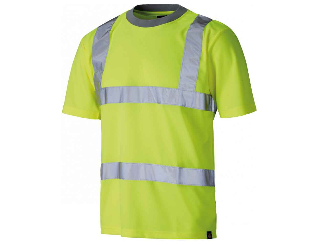 Dickies sa22080 small high visibility safety crew neck t for High crew neck t shirts