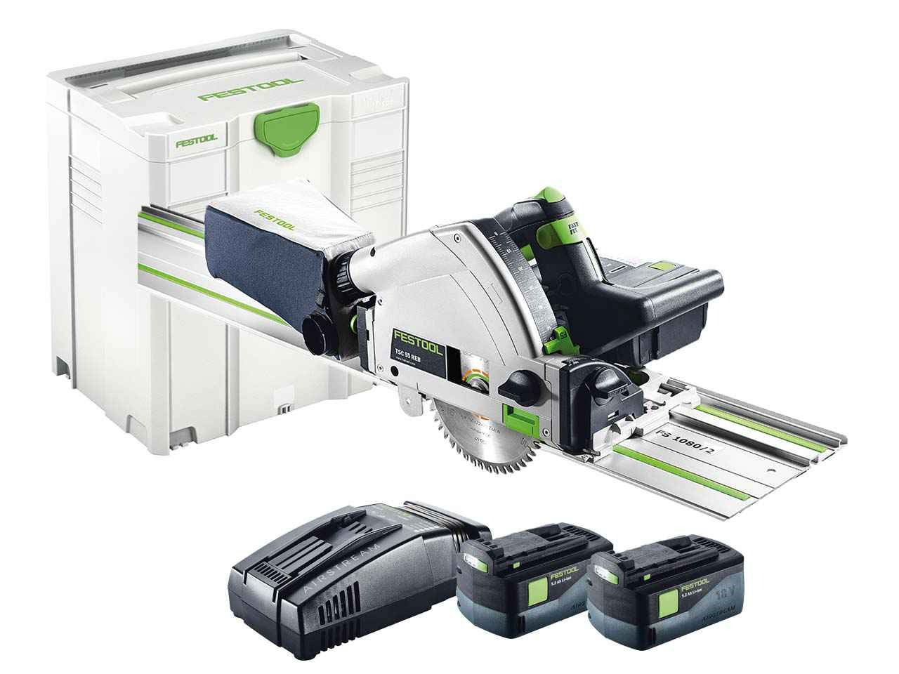 festool tsc 55 li 5 2 reb set fs gb 18v li ion cordless plunge saw rail systainer 5. Black Bedroom Furniture Sets. Home Design Ideas