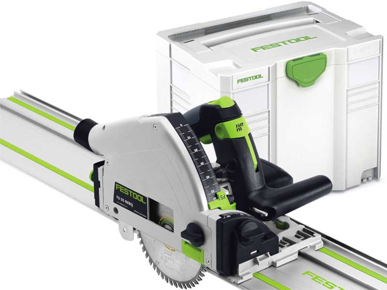 festool ts55 rebq plus f 240v plunge saw with guide rail in systainer 4. Black Bedroom Furniture Sets. Home Design Ideas