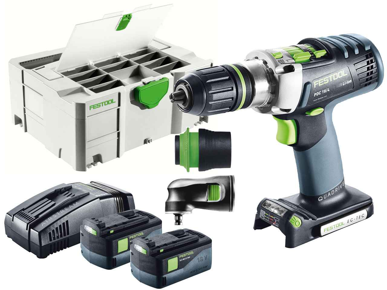 festool pdc 18 4 li 5 2 set 18v li ion percussion drill systainer 2 df. Black Bedroom Furniture Sets. Home Design Ideas