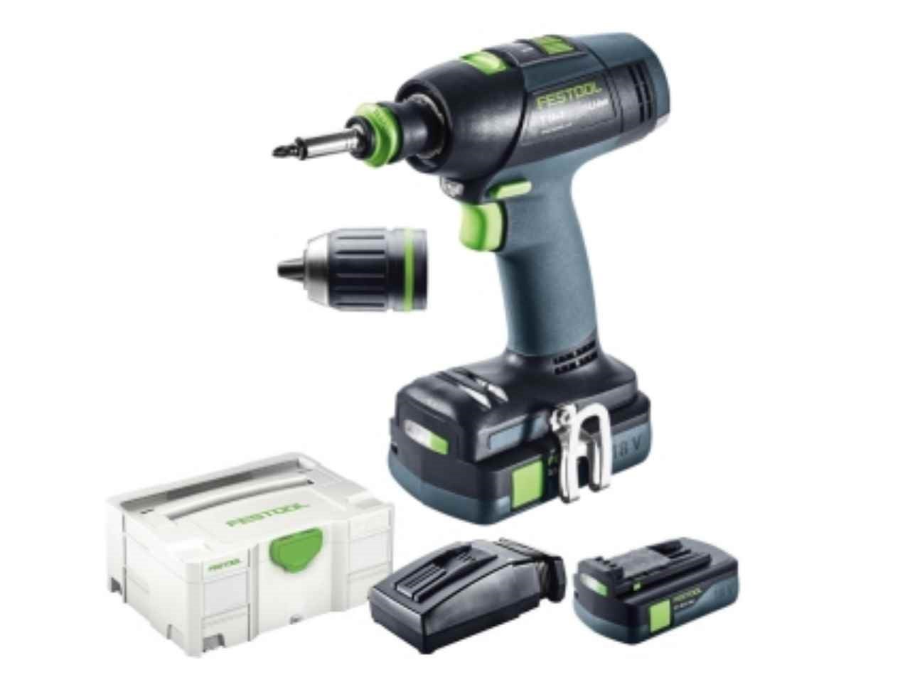 festool t18 3 li 3 1 compact gb 18v 2x3 1ah li ion cordless drill kit. Black Bedroom Furniture Sets. Home Design Ideas