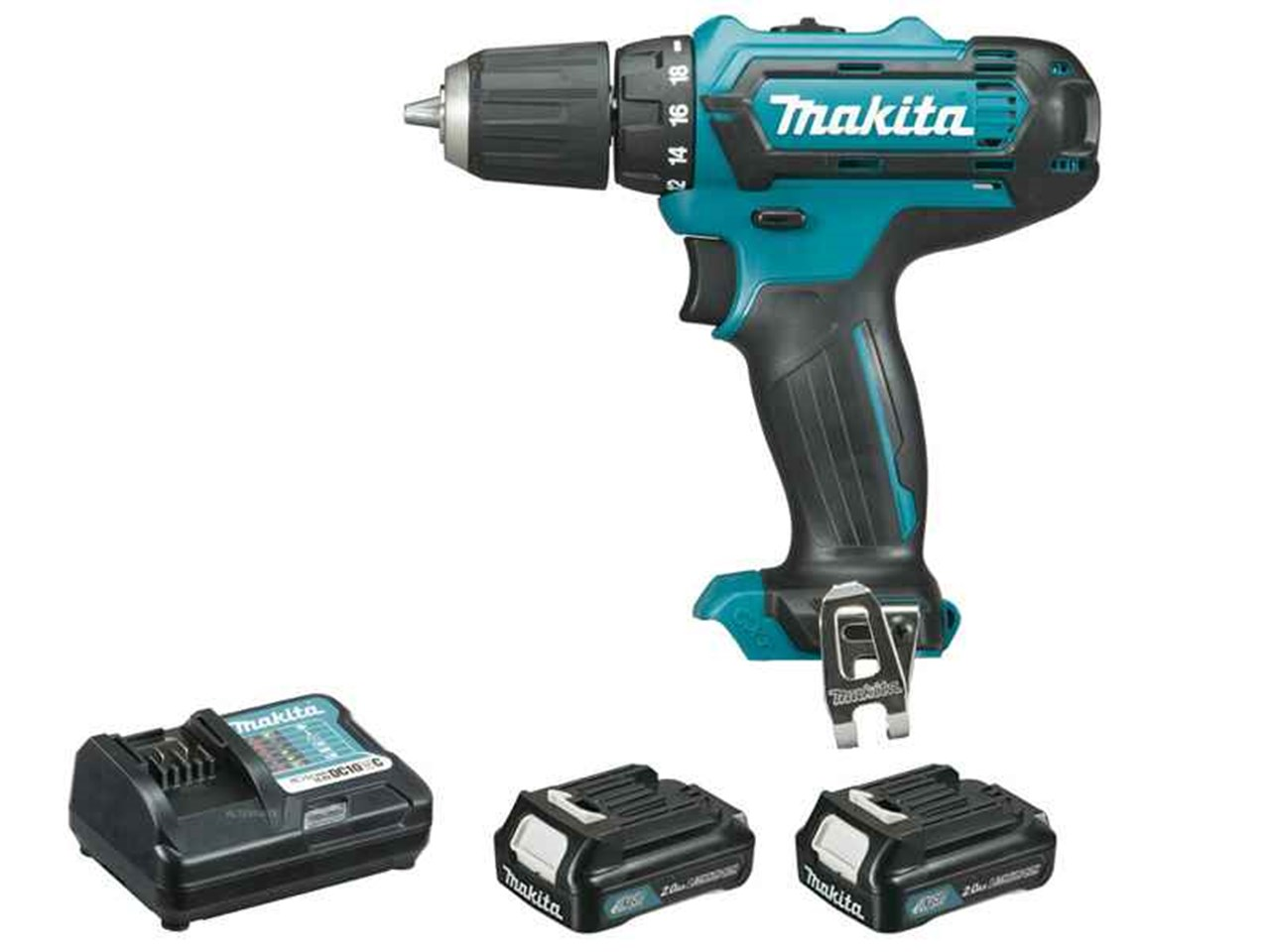 makita df331dwae 10 8v cxt 2x2 0ah li ion drill driver kit. Black Bedroom Furniture Sets. Home Design Ideas