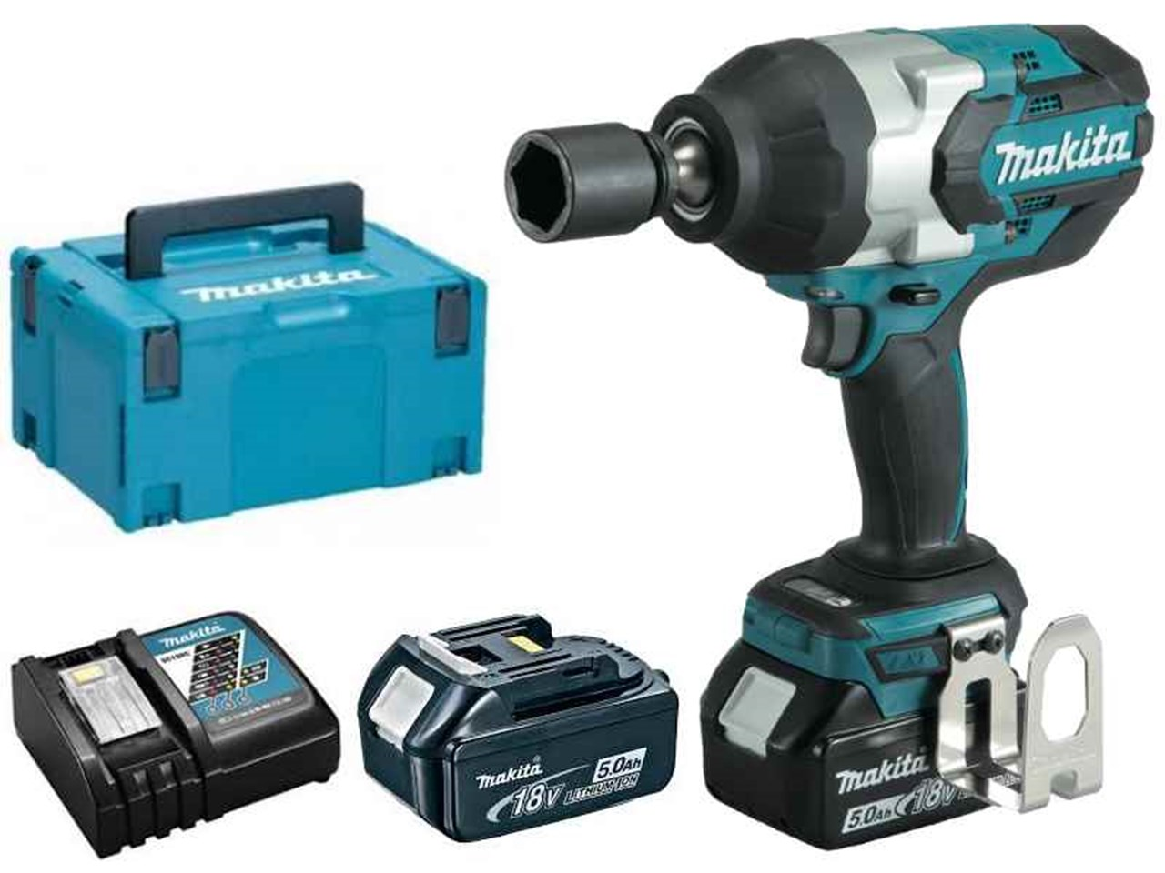 makita dtw1001rtj 18v 2x5 0ah li ion lxt brushless 3 4in impact wrench kit. Black Bedroom Furniture Sets. Home Design Ideas