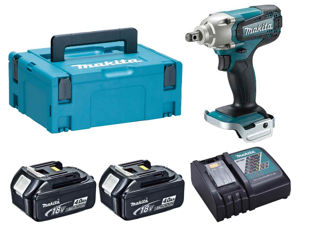 makita dtw190rmj 18v 2x4 0ah li ion lxt impact wrench kit. Black Bedroom Furniture Sets. Home Design Ideas
