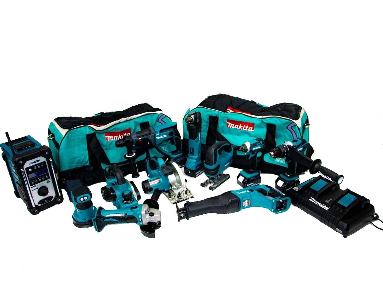 Makita Mak11pc 18v 4x50ah Lxt Li Ion 11pc Power Tool Kit