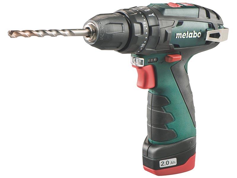 Metabo PowerMaxx SB Basic 10.8 Volt Li-Ion Combi Drill 2 x 2.0Ah Batteries