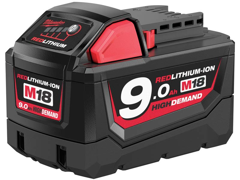 Milwaukee M18B9 18v 90Ah Li Ion High Demand Battery Pack
