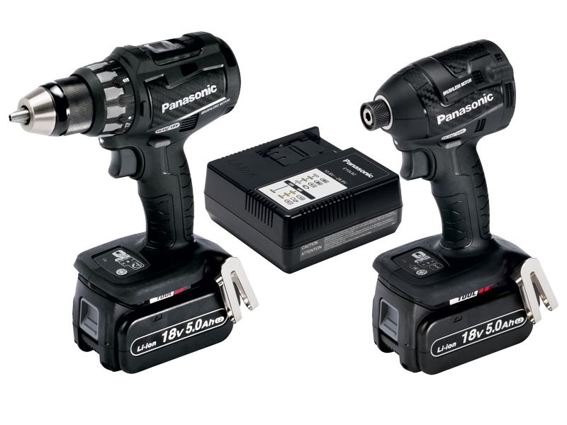 Panasonic EYC215LJ2G31 18v Drill and Impact Driver 2x5.0Ah ...