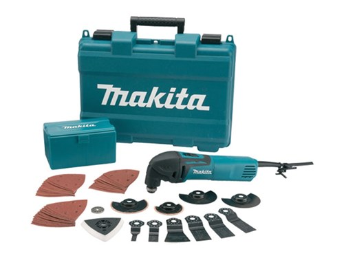 makita tm3000cx3 110v oszillierend multifunktionswerkzeug mit 42 zubeh r ebay. Black Bedroom Furniture Sets. Home Design Ideas